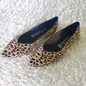 NEW Rothy's The Point flat leopard size 8